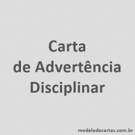 Carta de Advertência Disciplinar