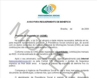 Carta de concessão do INSS