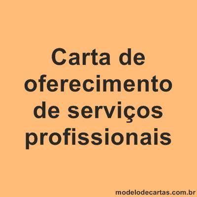 Carta de oferecimento de serviços profissionais