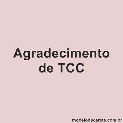 Agradecimentos de TCC